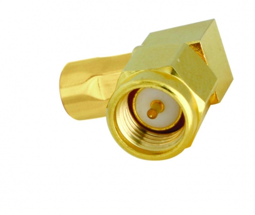 SMA-Winkelstecker Aircell 5 (crimp)