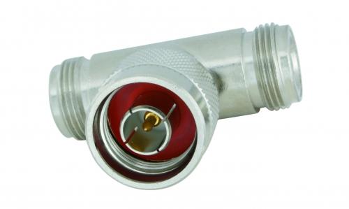 Adapter  N-Stecker / N-Buchse-Buchse (T-Stück)